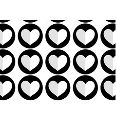 Beauty hearts background decoration vector