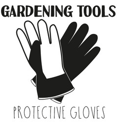 Black and white protective gloves silhouette vector