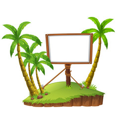 board template on island vector image