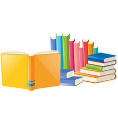 Books with many colors cover vector