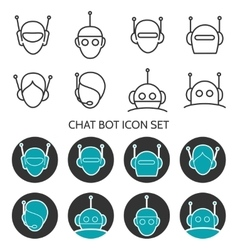 Chat bot icon set vector