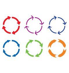 circle arrows colored signs vector image