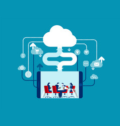 cloud computing concept business vector image