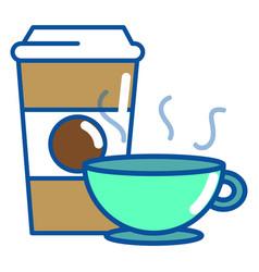 Coffee mug and cup design vector
