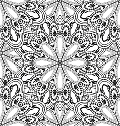 contour floral seamless pattern vector image