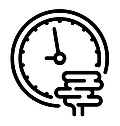 Digestion time icon outline style vector