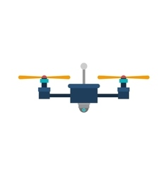 Drone with camera and two airscrew vector