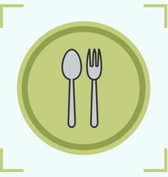 Eatery color icon vector
