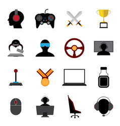 Esports flat icons vector