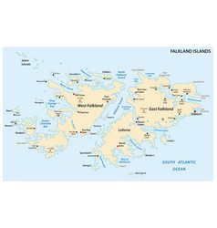 falkland islands also malvinas political map vector image