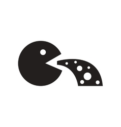 Flat icon in black and white style people nausea vector