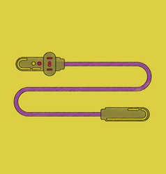 Flat shading style icon jump rope vector