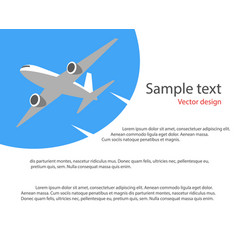 flying plane in blue sky poster banner vector image