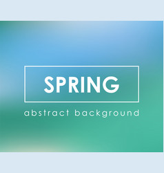fresh green blue spring card background vector image