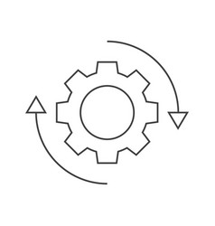 Gear rotation icon vector