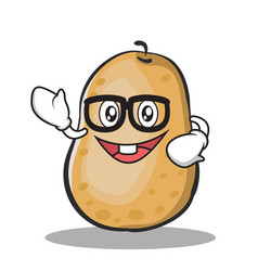 Geek potato character cartoon style vector