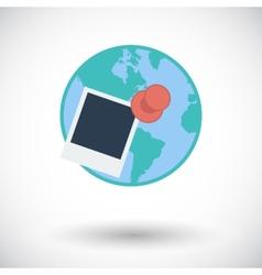 Geotegirovanie single flat icon vector