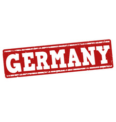 germany grunge stamp vector image