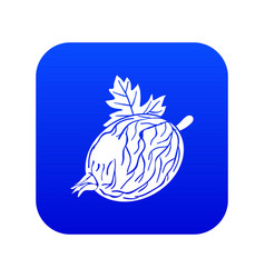 Gooseberry icon blue vector