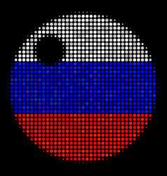 Halftone russian sphere icon vector
