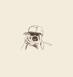 hand drawn photography vector image