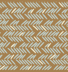 herringbone blue and gold hand drawn simple vector image