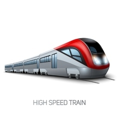 High Speed Modern Train vector image