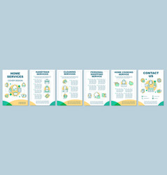 Home services brochure template layout cleaning vector