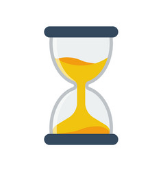 Hourglass icon flat style simple design vector