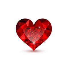 Jewel hearts vector
