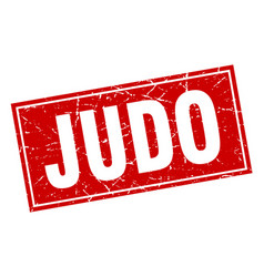 judo square stamp vector image