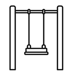 kid swing icon outline style vector image