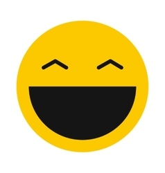 Laughing smiley icon flat style vector image