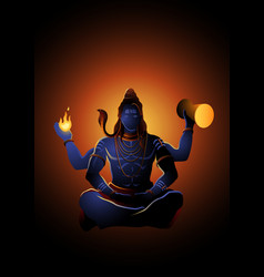 lord shiva hindu god vector image