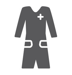 Medical gown glyph icon clothes and medicine vector