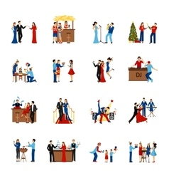 Party People Icons Set vector