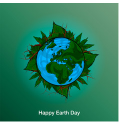 poster happy earth day 22 april 2018 vector image
