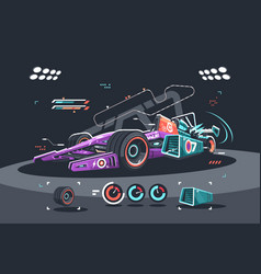 Racing car f1 vector