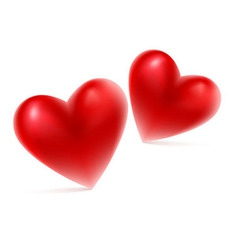 Red hearts shape vector