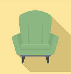Relax armchair icon flat style vector