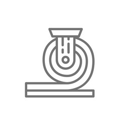 Rolled metal metallurgy line icon vector