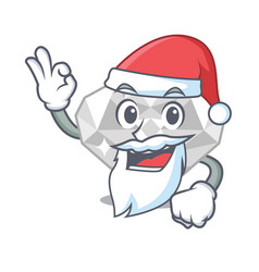 Santa white diamond in character box vector