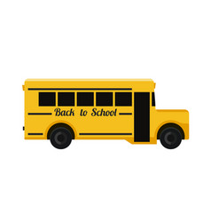 School bus flat vector