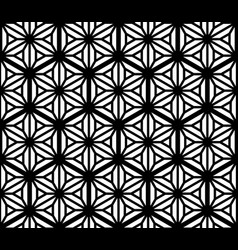 Seamles geometric ornament based kumiko in black vector