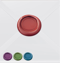 set of wax seals vector image