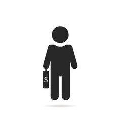 Simple investor black icon vector