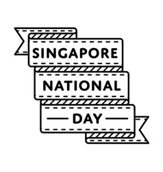 singapore national day greeting emblem vector image
