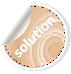 solution word on business wooden app icon vector image