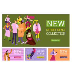 street fashion banners set vector image