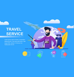 Travel service selection yours individual holidays vector